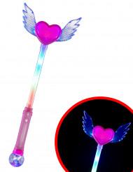 Bacchetta luminosa cuore con ali