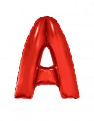 Palloncino alluminio gigante lettera A rosso 102 cm