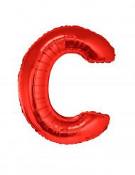 Palloncino rosso  in alluminio gigante lettera C