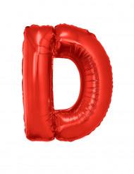 Palloncino alluminio gigante lettera D rosso 102 cm