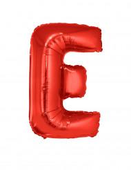 Palloncino alluminio gigante lettera E rosso 102 cm