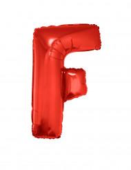Palloncino alluminio gigante lettera F rosso 102 cm