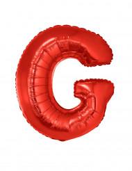 Pallone in alluminio rosso Lettera G gigante