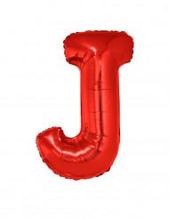 Palloncino alluminio gigante lettera J rosso 102 cm