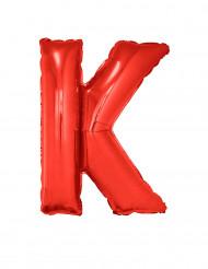 Palloncino alluminio gigante lettera K rosso 102 cm