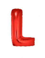Palloncino alluminio gigante lettera L rosso 102 cm