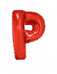 Palloncino alluminio gigante lettera P rosso 102 cm