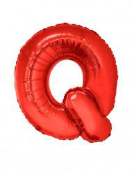 Palloncino alluminio gigante lettera Q rosso 102 cm