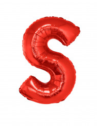 Palloncino alluminio gigante lettera S rosso 102 cm