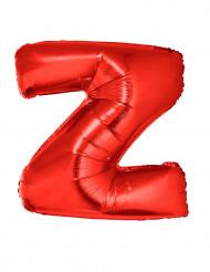 Palloncino alluminio gigante lettera Z rosso 102 cm