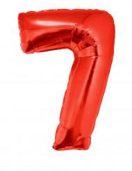 Palloncino alluminio gigante numero 7 rosso 102 cm