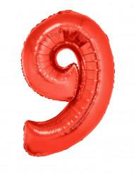 Palloncino alluminio gigante numero 9 rosso 102 cm