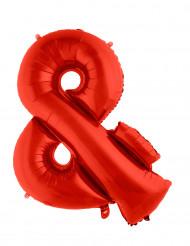 Palloncino in alluminio rosso simbolo &
