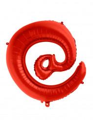 Palloncino in alluminio gigante simbolo @ rosso