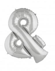 Palloncino in alluminio gigante simbolo & argento