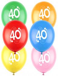 12 Palloncini colori assortiti con numero 40