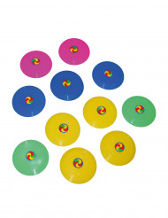 12 Mini Frisbee multicolore 7 cm