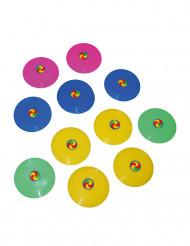 12 Mini Frisbee multicolore 7 cm