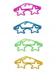 4 occhiali colorati a forma di stella