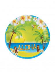 8 Piatti in cartone Aloha 23 cm