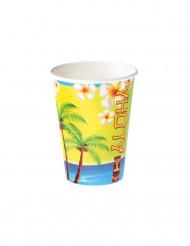 8 Bicchieri in cartone Aloha 25 cl
