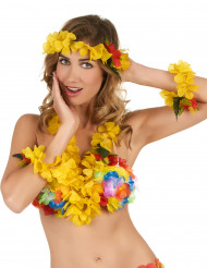 Set Hawaii giallo Adulto
