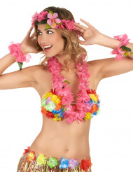 Set Hawaii rosa adulto