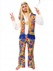 Costume da hippie fiorito per adulto