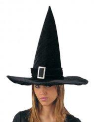 Cappello da strega nero per adulto