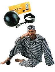 Palla da carcerato nera per adulti