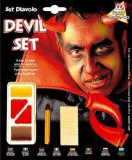 Kit trucco e corna da diavolo
