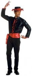 Camicia ballerini di flamenco uomo nero e rosso