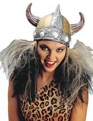 Casco da vichingo per donna con capelli