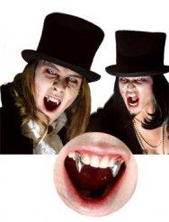 Denti da vampiro cromati