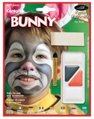 Kit trucco multicolore da coniglio per bambino