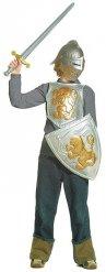 Kit cavaliere grigio e dorato per bambino