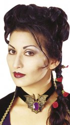 Parrucca da vampiro intrecciata per donna