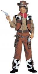 Costume da cowboy marrone per bambino