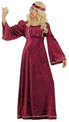 Costume da principessa medievale in rosso per bambina