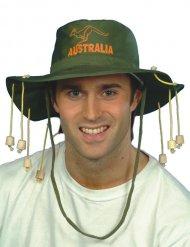 Cappello safari verde e arancione adulto