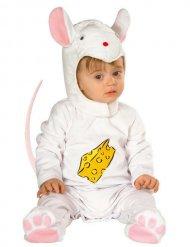 Costume da topolino bianco e rosa per bebè