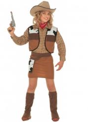 Costume da Cowgirl marrone per bambina