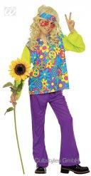 Costume da bambino Hippy multicolore  figlio del fiore