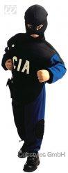 Costume bambino agente C.I.A nero e blu