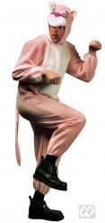 Costume da felino rosa per adulto