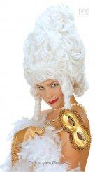 Parrucca bianca da donna barocca
