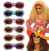 Occhiali hippie multicolore per adulto