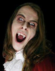 Denti aguzzi da vampiro bianchi per adulto