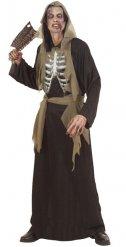 Costume da scheletro zombie per adulto