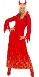 Costume da diavolessa con fiamme per donna